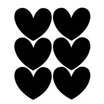 Chalk Labels | Hearts Black