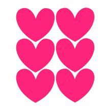 Chalk Labels | Hearts Cerise