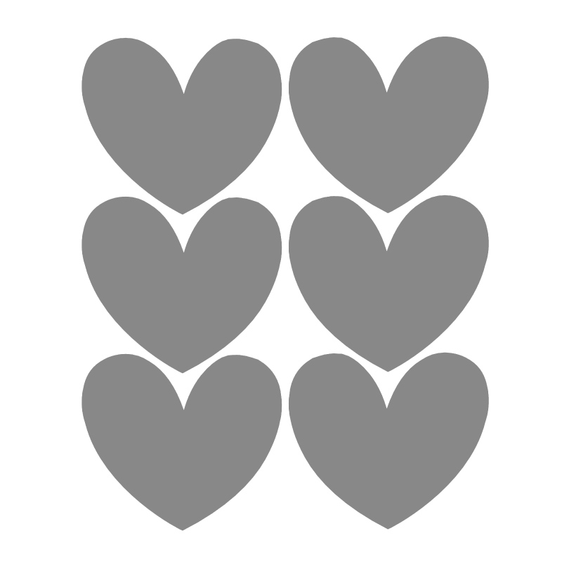Chalk Labels | Hearts Grey