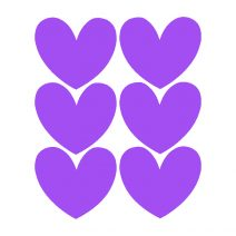 Chalk Labels | Hearts Purple