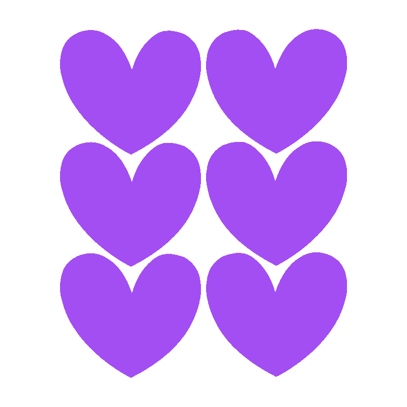 Hearts | Purple