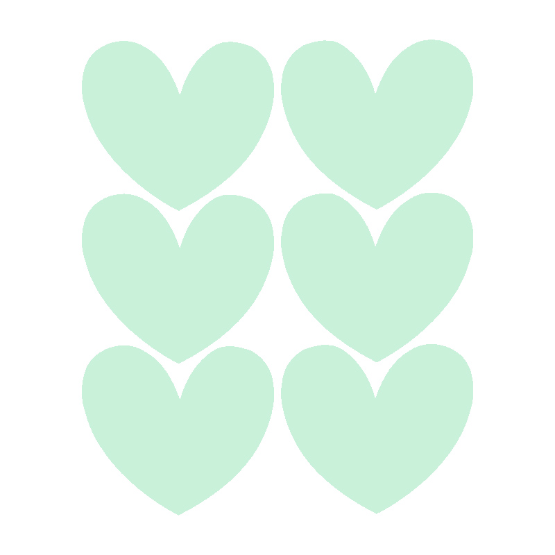 Chalk Labels | Hearts Mint