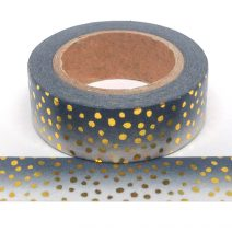 Foil-08 | Black Ombre With Gold Dots