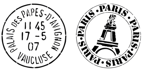 Paris Postage Marks Large