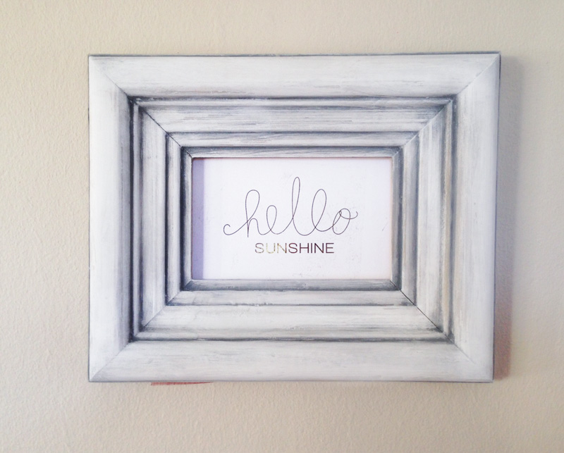 Chalk Painted Frame