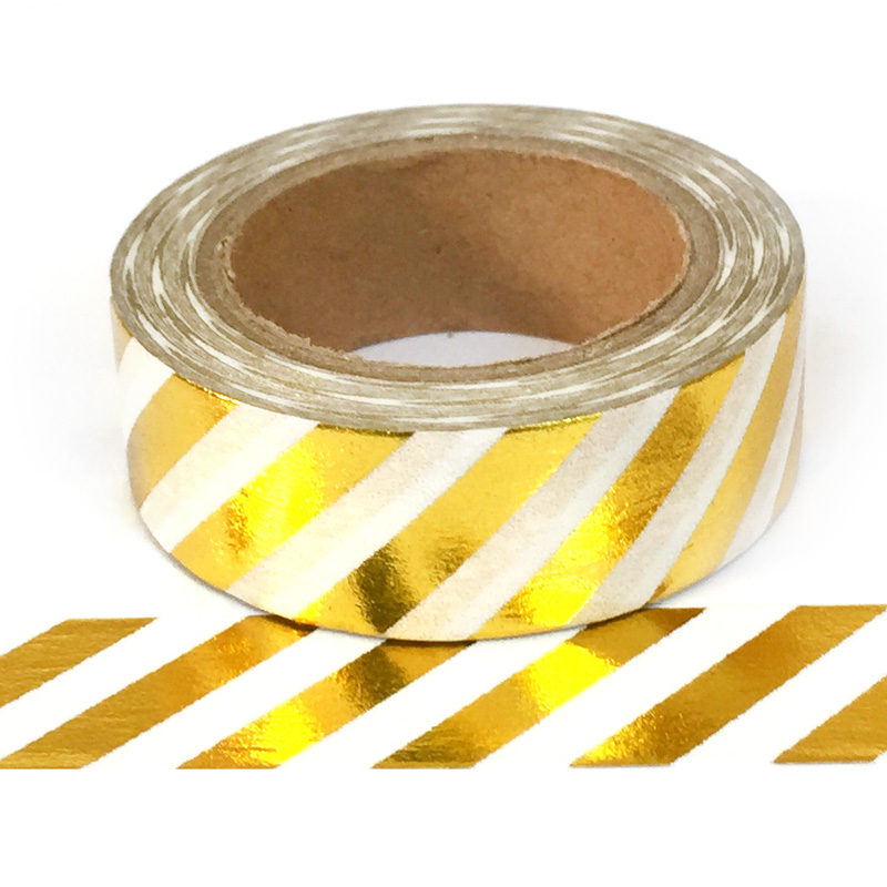 Foil-30| Gold Diagonal Stripe