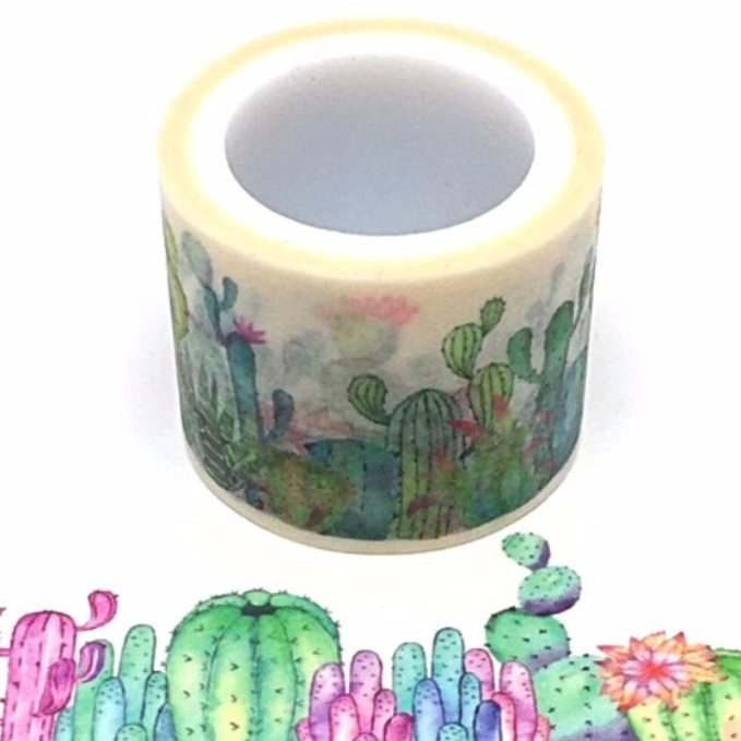 Water Colour Cactus Square