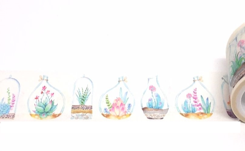 FLORAL GLASS VASES LONG