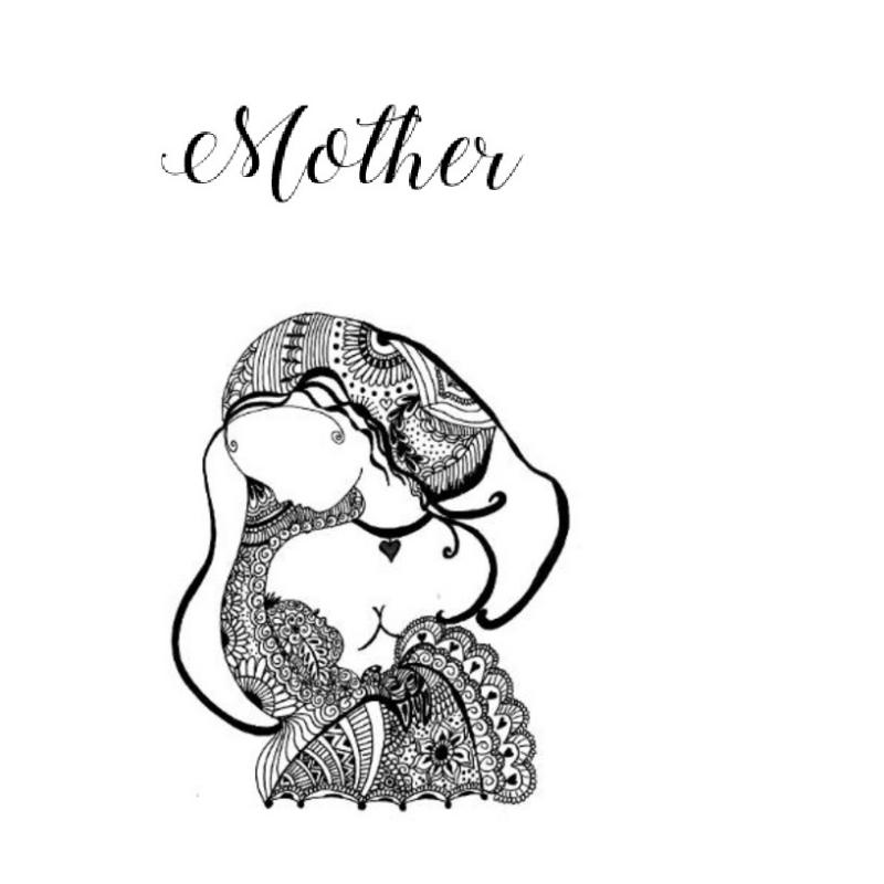 MOTHER ZENTANGLE CD COVER