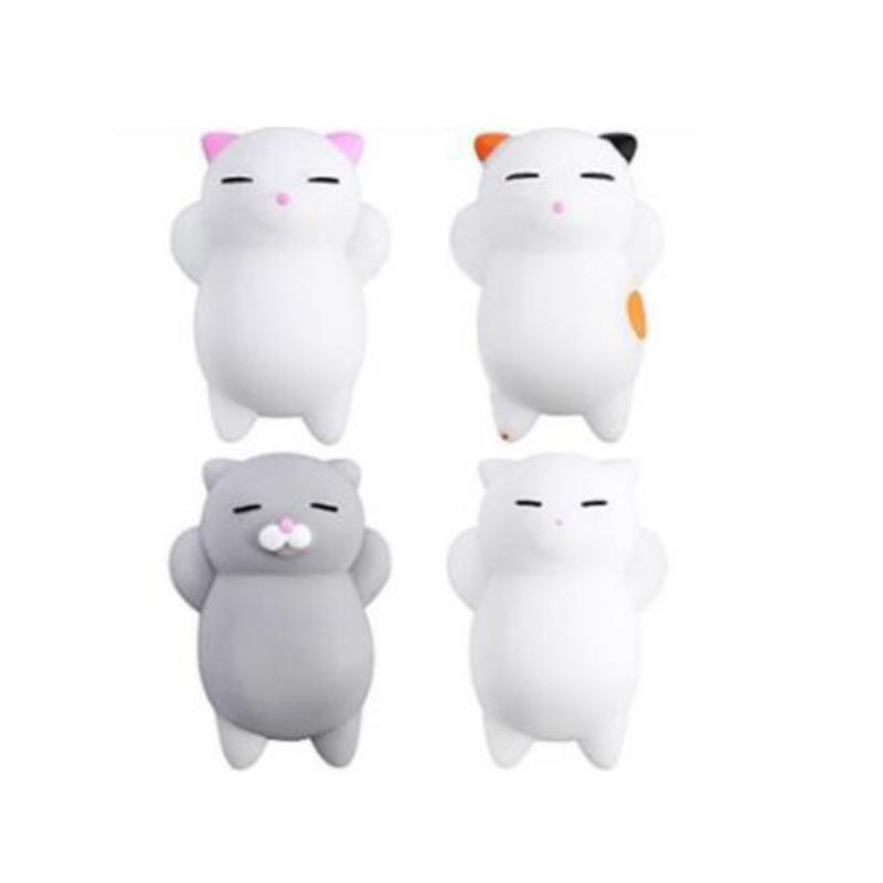 Kawaii Set Of Four Squishy Cats