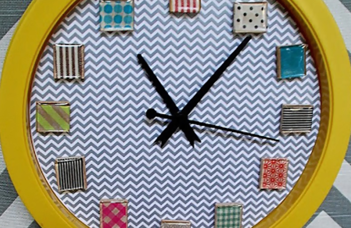 Washitape Clock