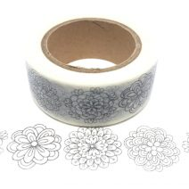 Colouring Tape   Floral 4