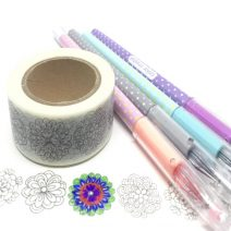 COLOURING IN FLORAL LONG