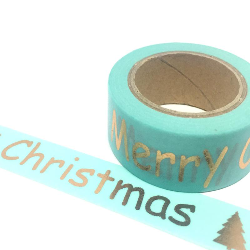 Gold Foil Merry Christmas Long