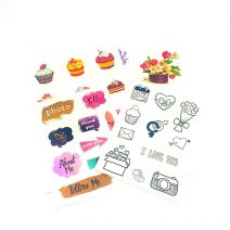 Stickers|Floral Cupcakes