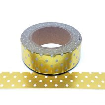 Foil-121 White And Gold Dots